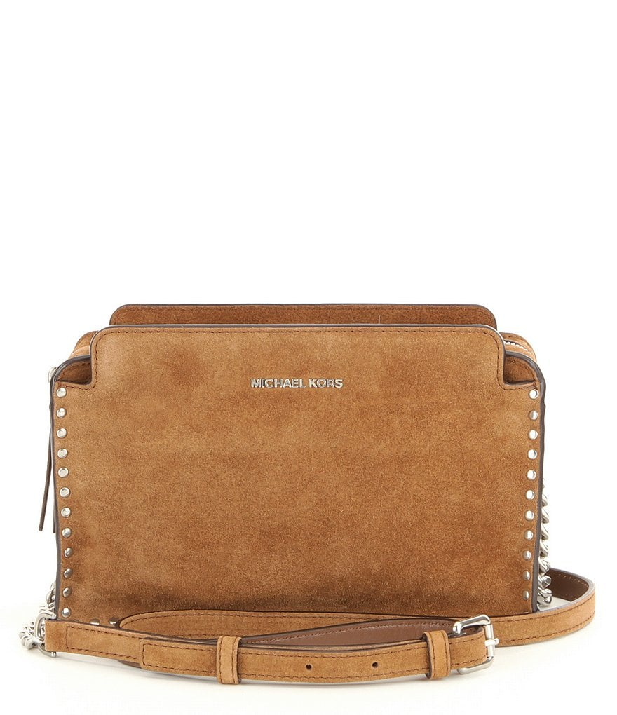 MICHAEL Michael Kors Astor Studded Suede Cross-Body Bag
