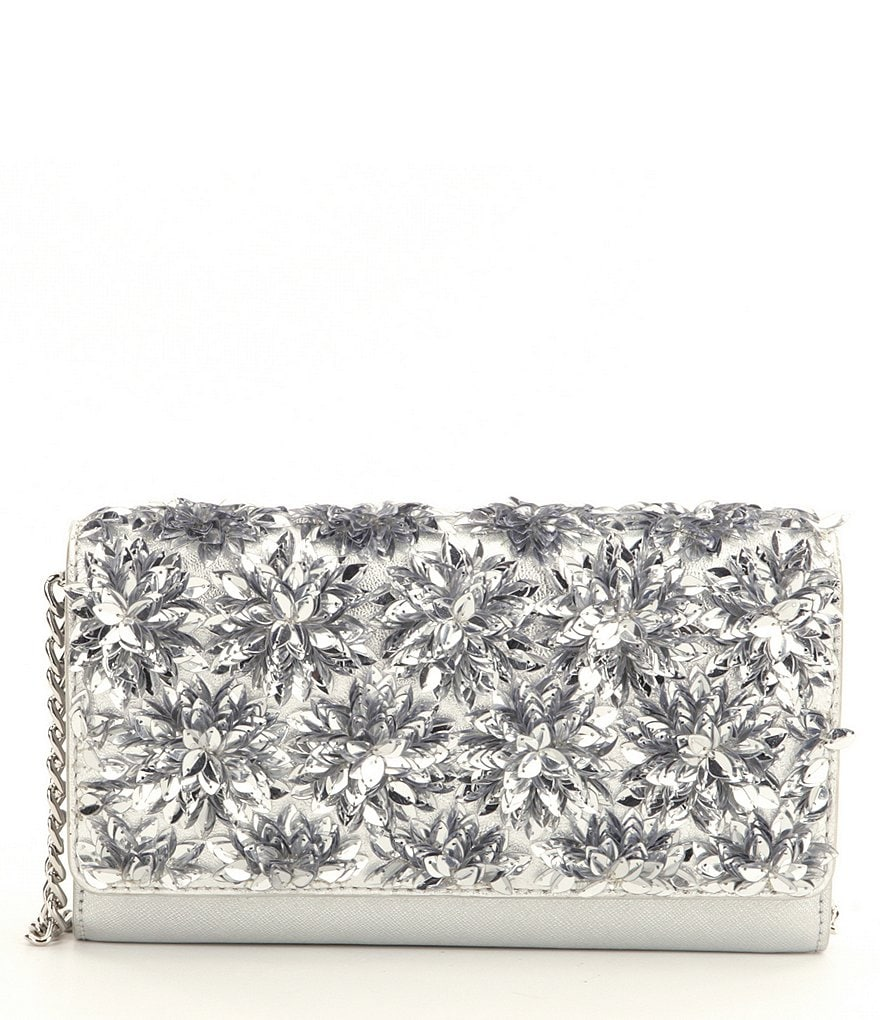 MICHAEL Michael Kors Flora Burst XL Wallet on a Chain