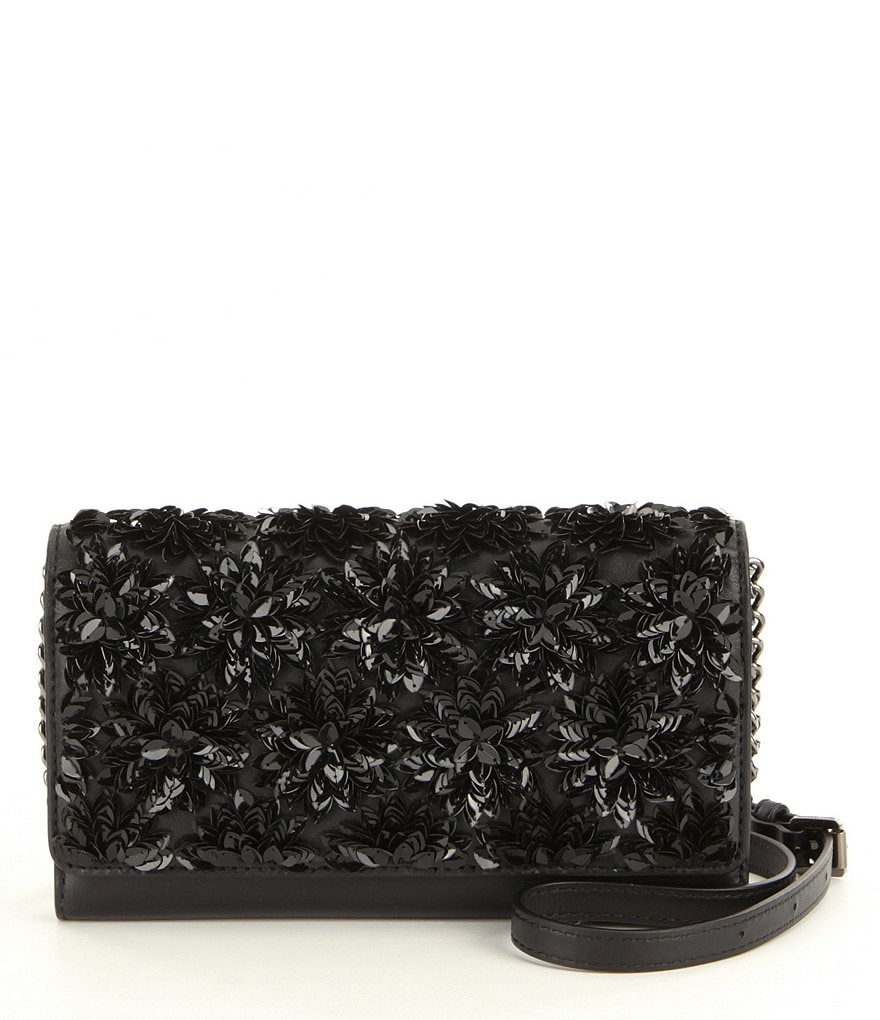 MICHAEL Michael Kors Flora Burst Sequined XL Wallet on A Chain