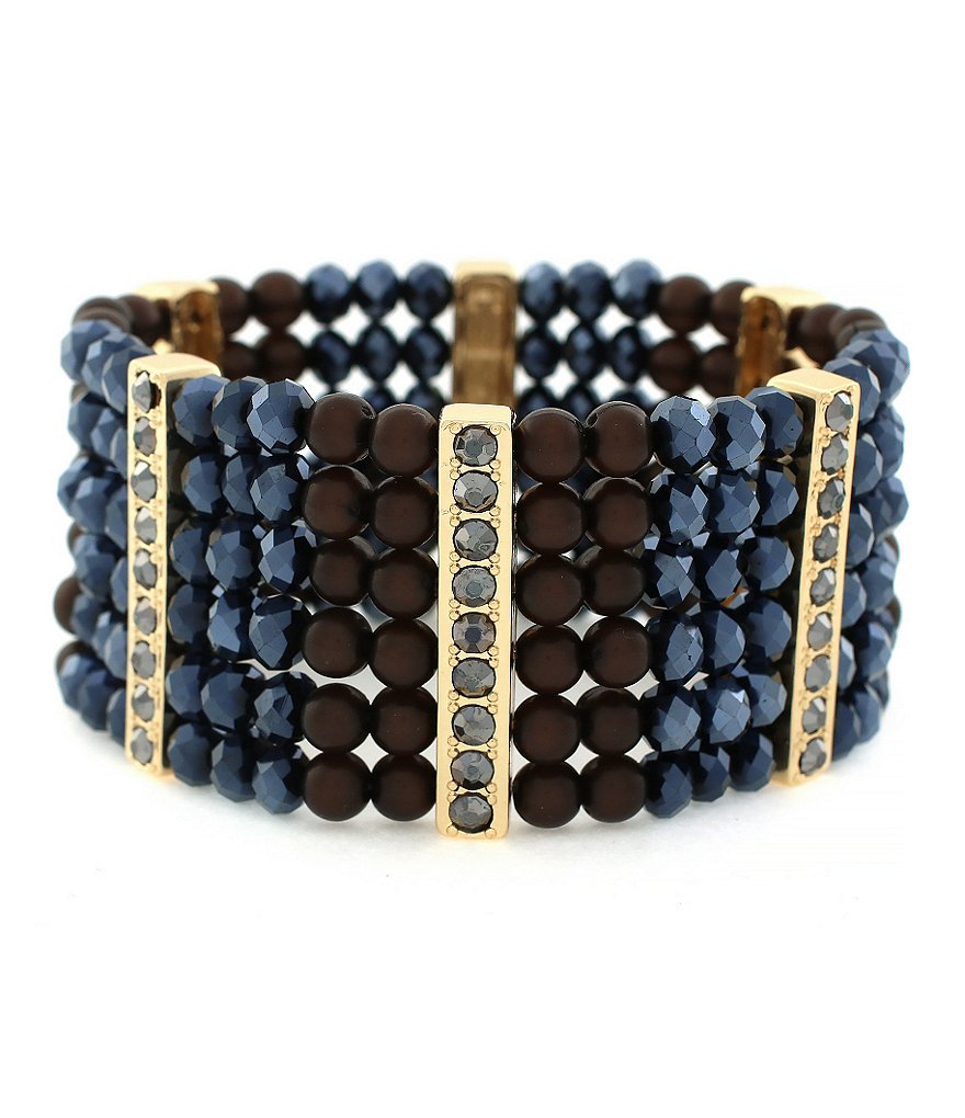 Jessica Simpson Desert Fox Beaded Stretch Bracelet