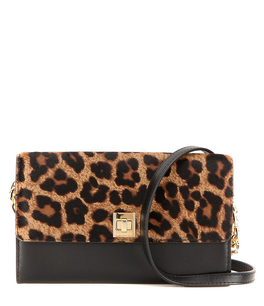 MICHAEL Michael Kors Natalie XL Leopard-Print Haircalf Wallet on A Chain