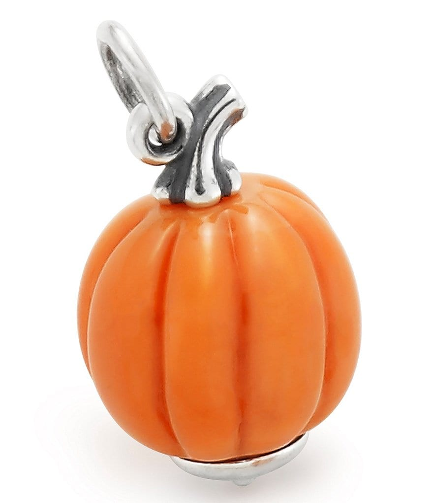 James Avery Harvest Pumpkin Art Glass Charm