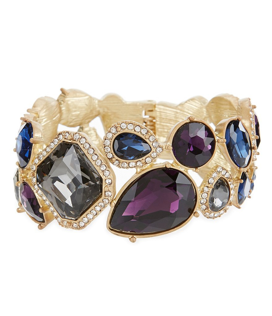 Belle Badgley Mischka Tumble Stones Stretch Bracelet