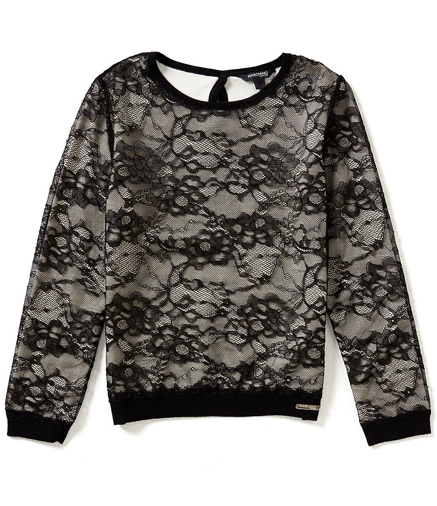 Marciano Big Girls 7-16 Printed Lace Sweater