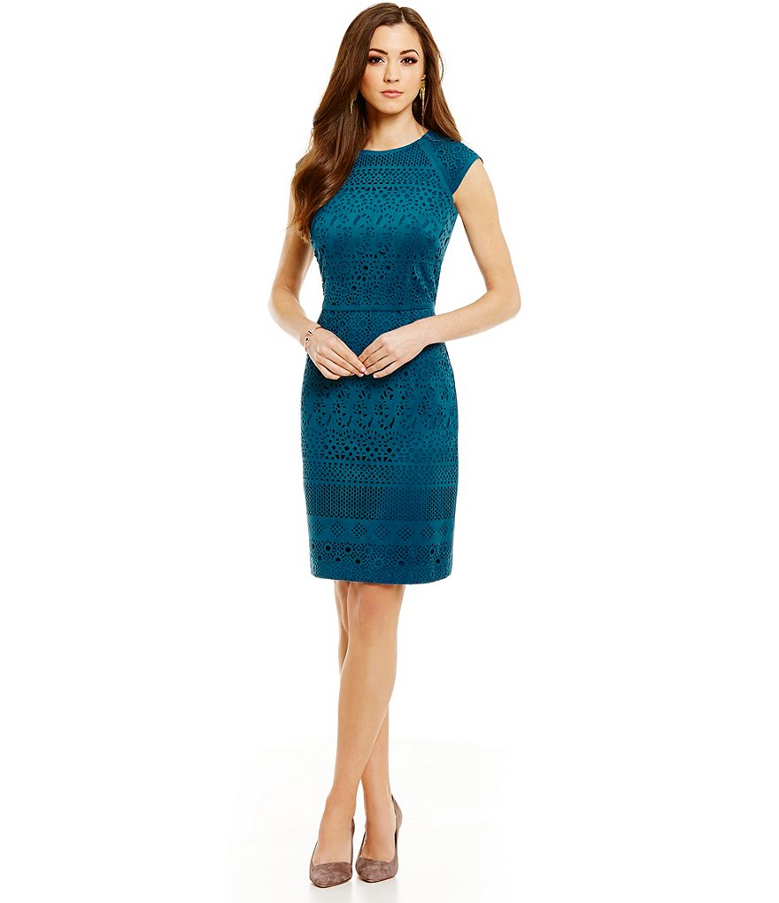 Antonio Melani Emerd Faux-Suede Sheath Dress