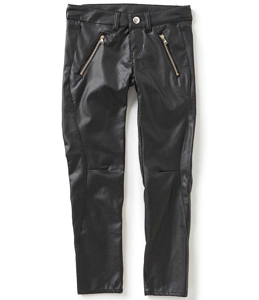 Marciano Big Girls 7-16 Faux-Leather Zip Pants