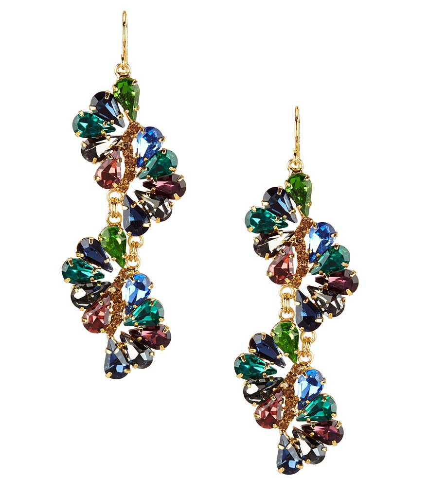 Cezanne Stone Twist Linear Statement Earrings