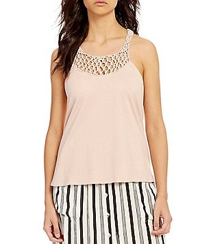 Billabong Great Ways Macrame-Detailed Tank Top