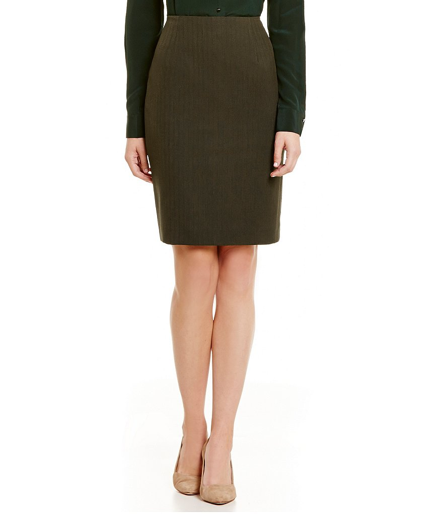 Antonio Melani Nolan Herringbone Pencil Skirt