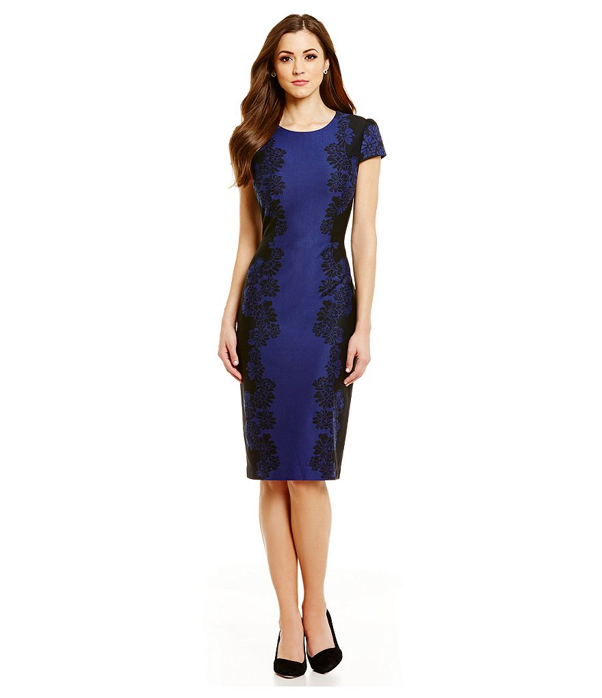 Antonio Melani Serena Floral Jacquard Sheath Dress
