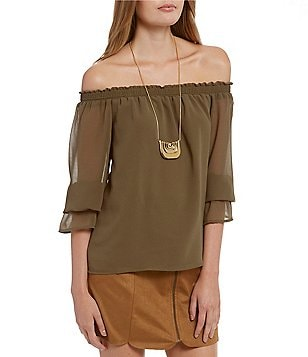 WAYF Off-The-Shoulder Blouse