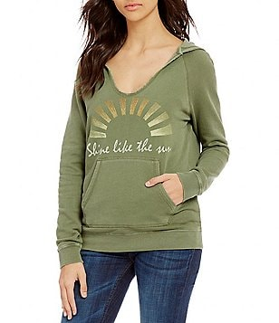 Billabong Find Me Screeprinted French Terry Hooded Pullover