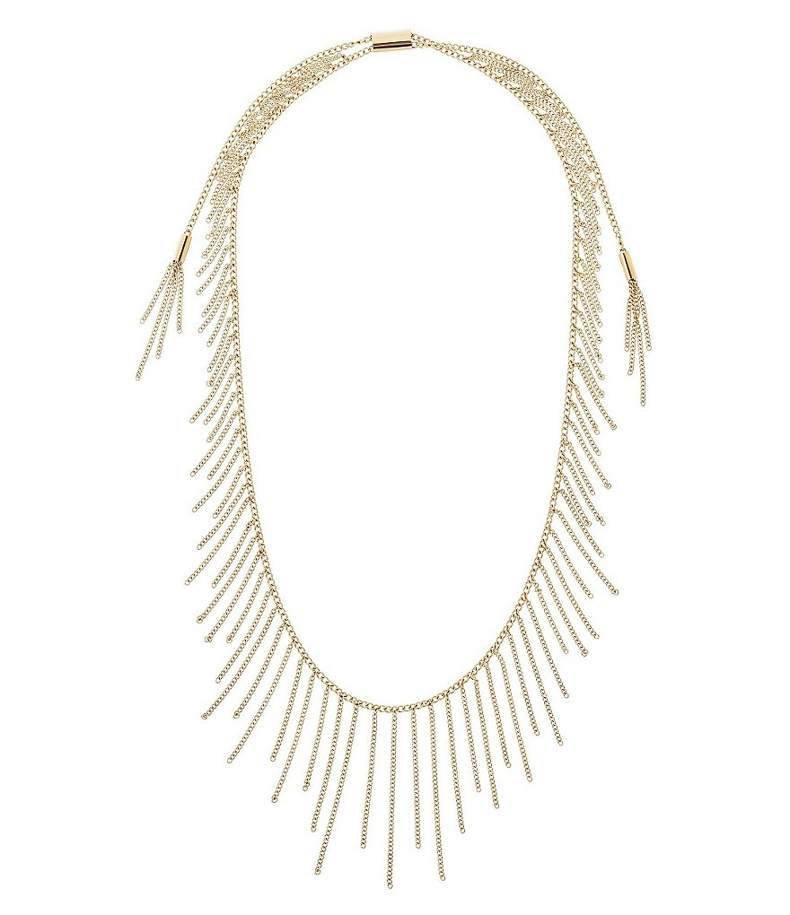 Michael Kors Chain-Fringe Statement Necklace
