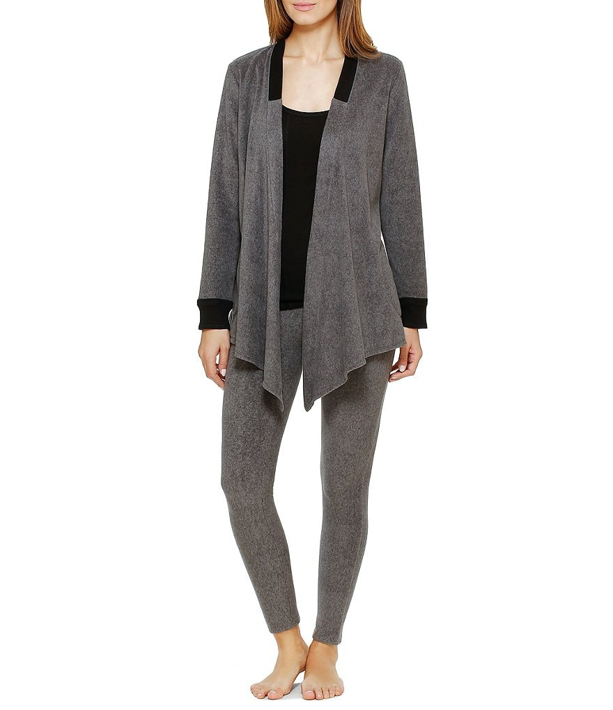 DKNY Fleece Cardigan & Leggings Lounge Set