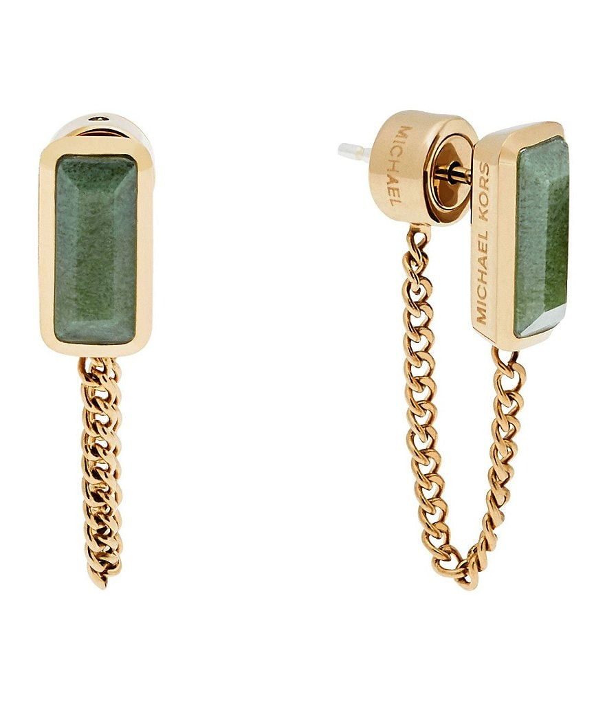 Michael Kors Jade Curb-Link Stud Earrings