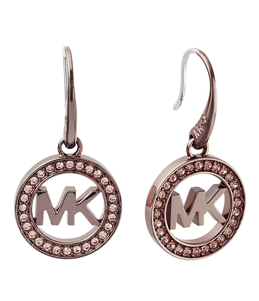 Michael Kors Logo Drop Earrings