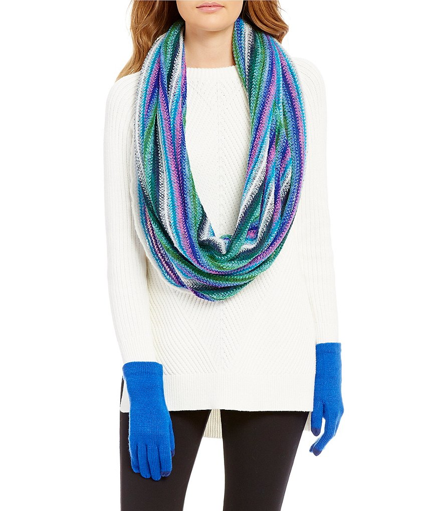 Echo Ombré Infinity Scarf & Touch-Capable Gloves Gift Set