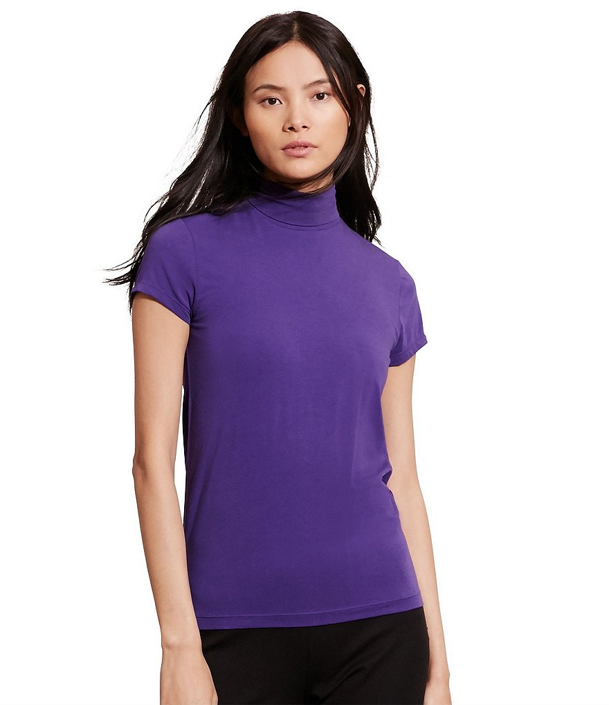 Lauren Ralph Lauren Short Sleeve Turtleneck Top