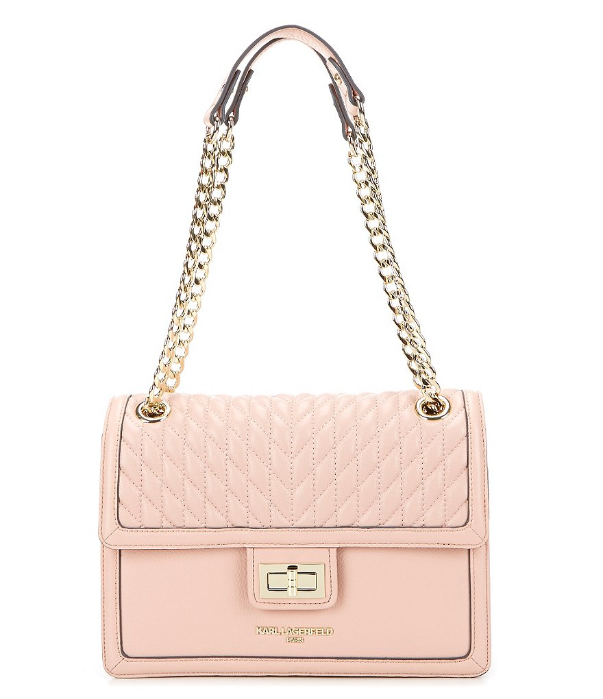 KARL LAGERFELD PARIS Pebbled Shoulder Bag