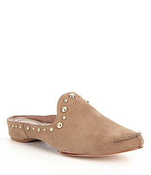 Donald J Pliner Bayez Studded Suede Slip-On Dress Mules
