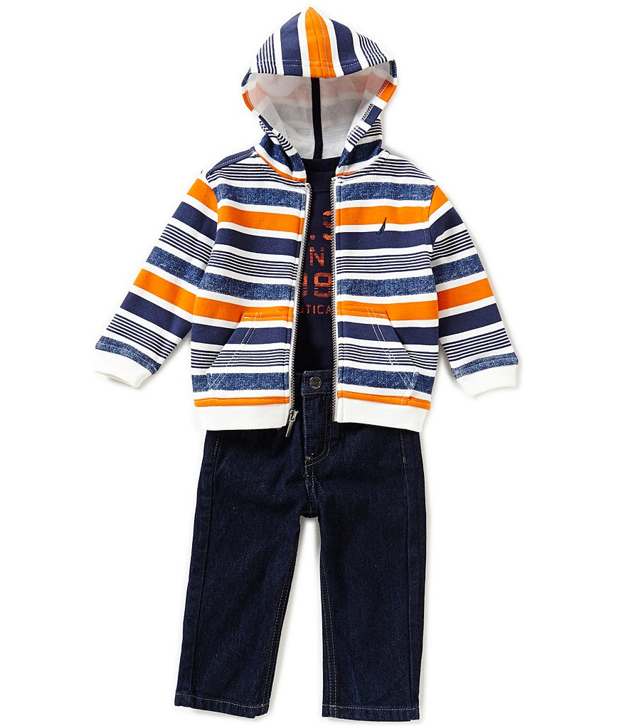 Nautica Baby Boys 12-24 Months Hoodie, Tee, and Jeans Set