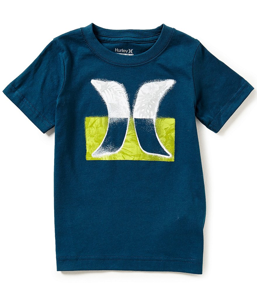 Hurley Little Boys 4-7 Overspray Short-Sleeve Tee