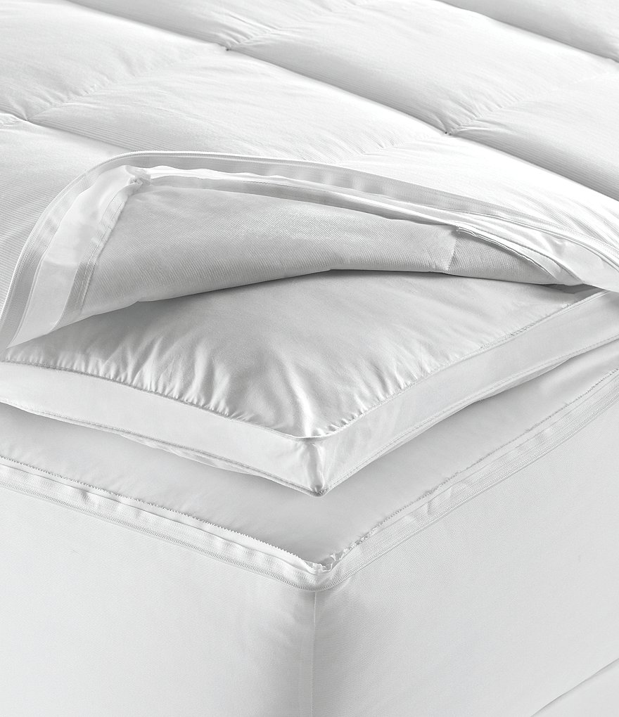 Lauren Ralph Lauren 500-Thread-Count Quilted Down-Filled Featherbed Mattress Topper