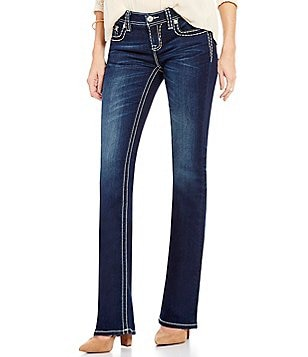 Miss Me Stitched Mid-Rise Bootcut Jeans