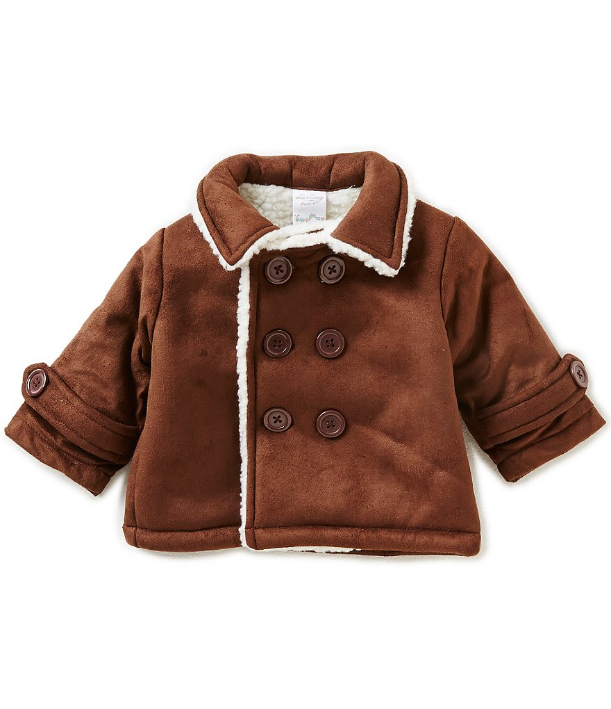 Starting Out Baby Boys 3-24 Months Faux-Suede Coat