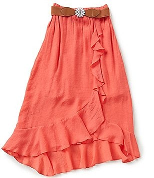 I.N. Girl Big Girls 7-16 High-Low Belted Maxi Skirt