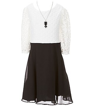 I.N. Girl Big Girls 7-16 Color Block Skater Dress