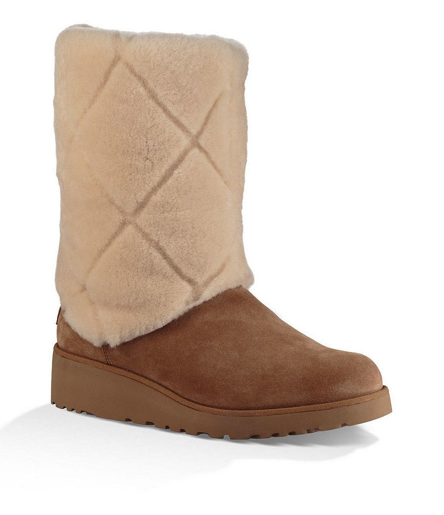 UGG® Ariella Luxe Diamond Sheepskin Shaft Mid Shaft Boots