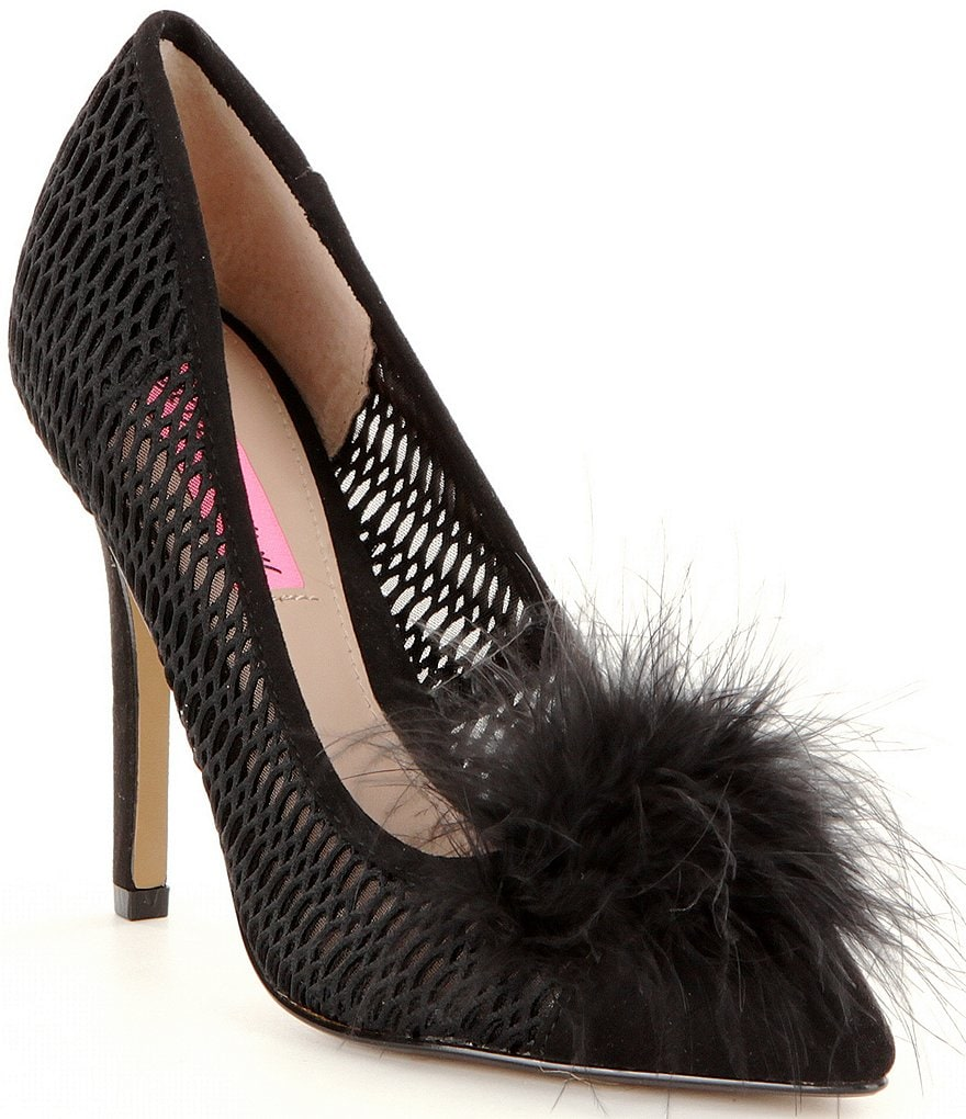 Betsey Johnson Olvia Perforated Pointed-Toe Pumps
