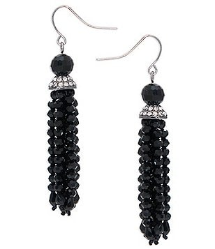 Lauren Ralph Lauren Hide & Chic Beaded Tassel Earrings