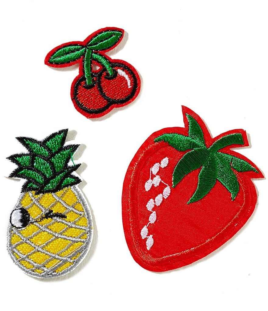 GB Girls Fruit Iron-On Patches 3-Pack