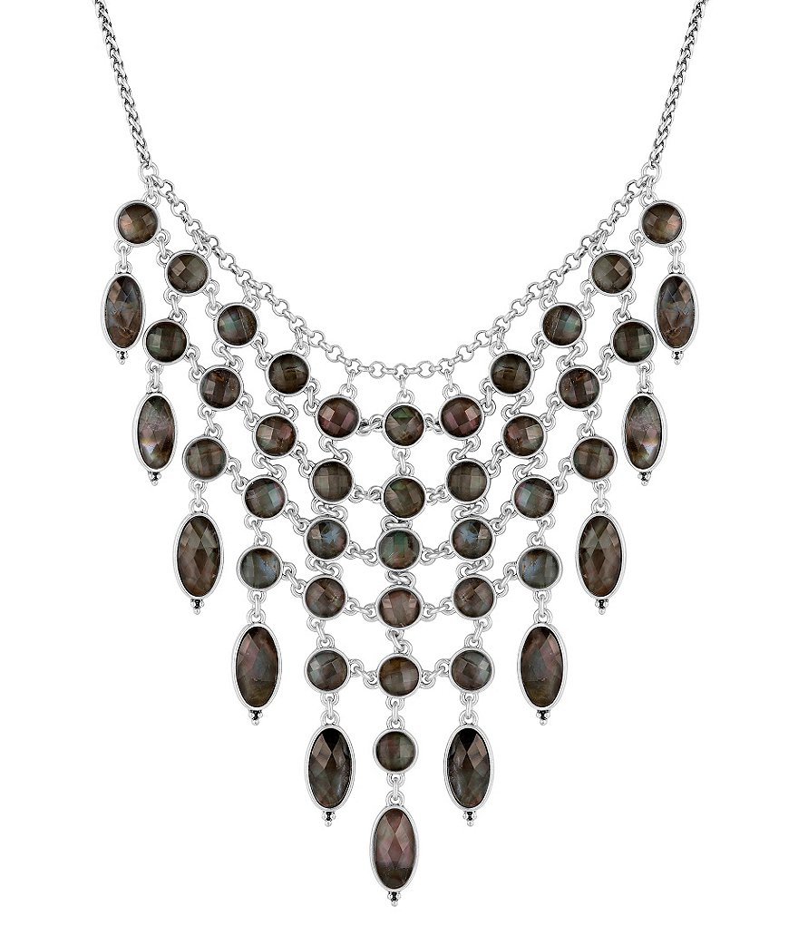 Lucky Brand Mother-of-Pearl Statement Collar Necklace