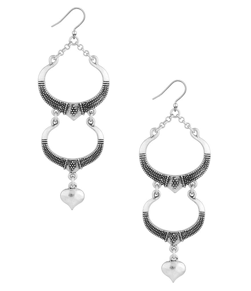 Lucky Brand Beaded Linear Drop Earrings