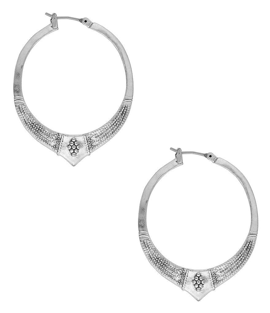 Lucky Brand Etched Hoop Earrings