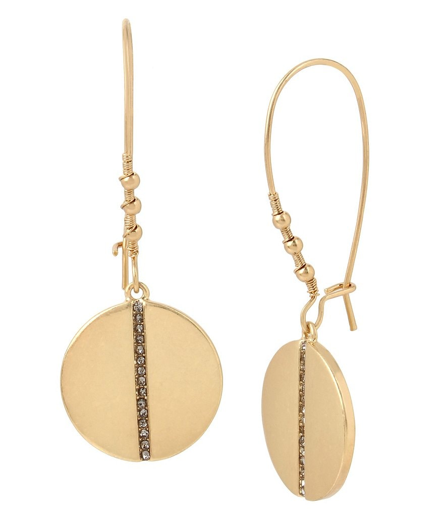 Kenneth Cole New York Pavé Disc Drop Earrings