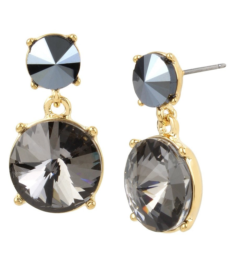 Kenneth Cole New York Faceted Stone Double-Drop Earrings