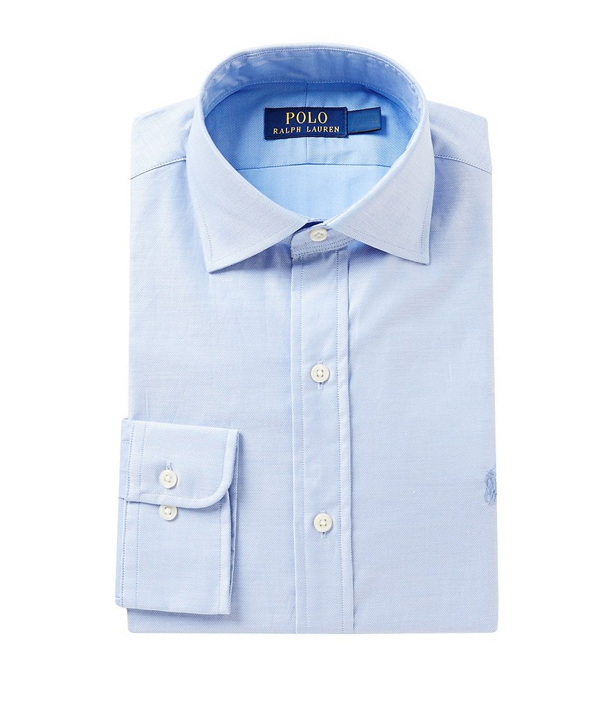 Polo Ralph Lauren Fitted Classic-Fit Spread-Collar Dress Shirt