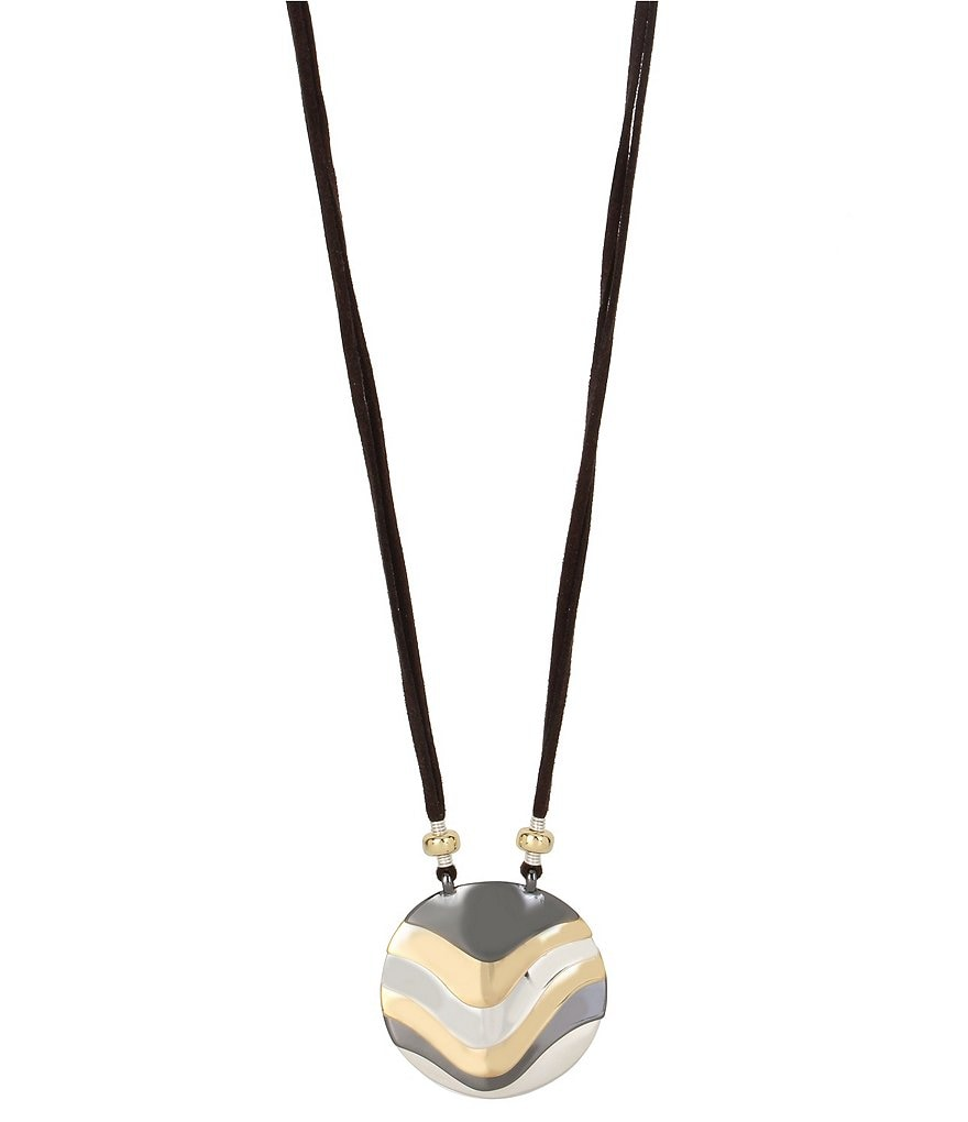 Robert Lee Morris Soho Tri-Tone Pendant Necklace