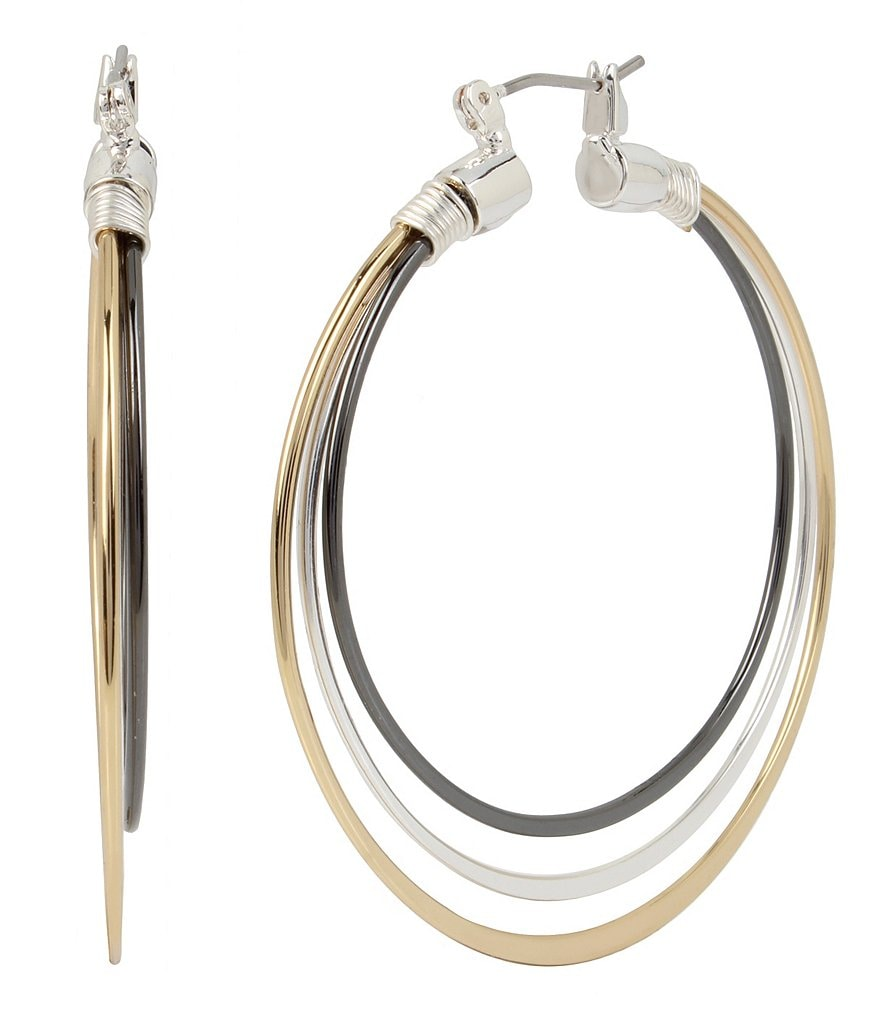 Robert Lee Morris Soho Multi-Row Wire Hoop Earrings