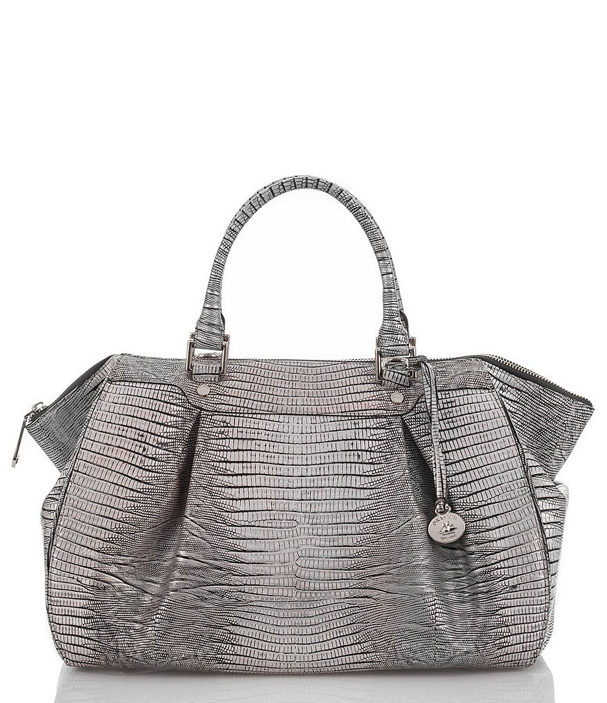 Brahmin Hardwick Collection Metallic Faye Satchel