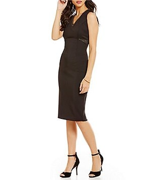 Jessica Simpson Sleeveless V-Neck Cutout Midi Dress