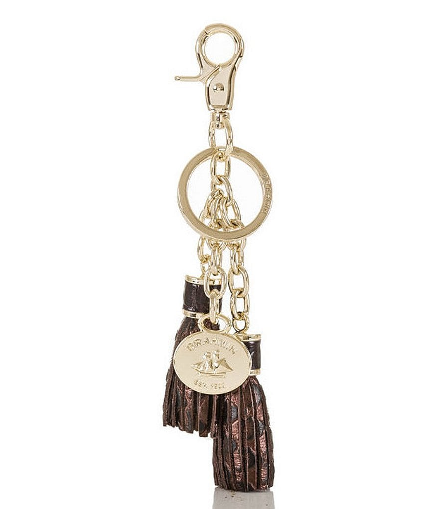 Brahmin Java Collection Double-Tassel Key Ring