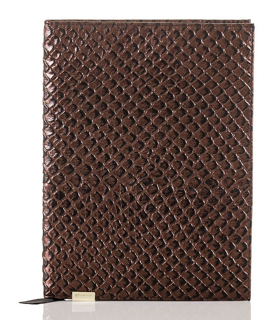 Brahmin Java Collection Snake-Embossed Leather Journal