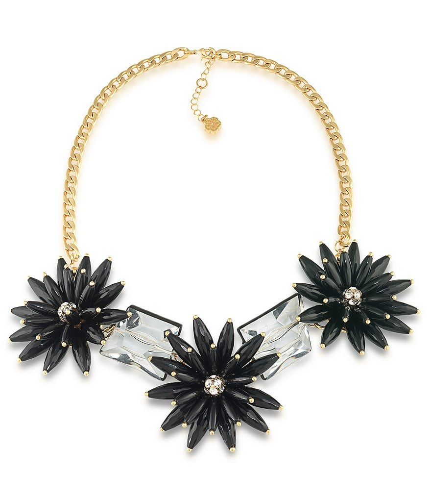 Trina Turk Cabaret Flower & Stone Frontal Necklace