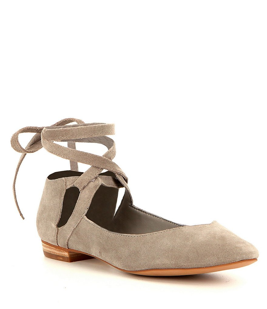 GB Break-Out Suede Lace-Up Flats