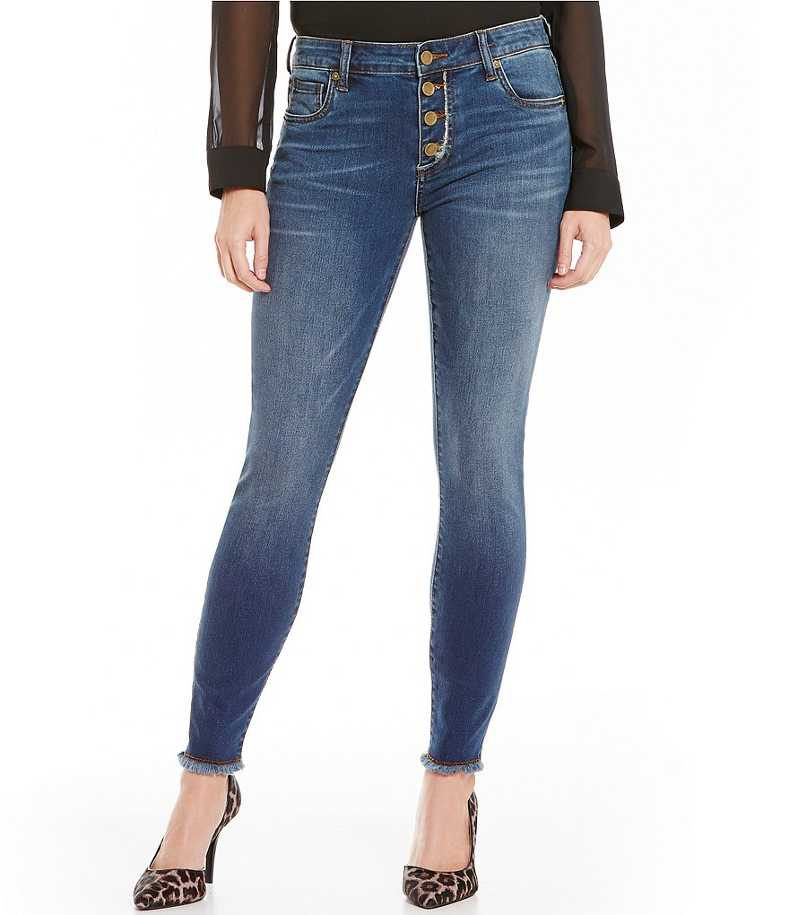 KUT from the Kloth Connie Button Fly Ankle Skinny Jeans